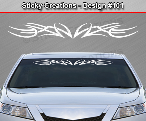 Design  Tribal Accent Windshield Decal Window Sticker Vinyl - Truck windshield decals