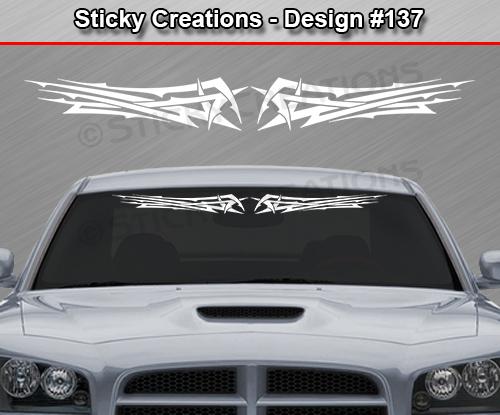 Design  Tribal Spikes Windshield Decal Rear Window Sticker - Custom rear window stickers for cars