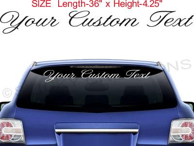 CUSTOM TEXT Script Lettering Sticker Vinyl Name Customized - Custom graphic for alto